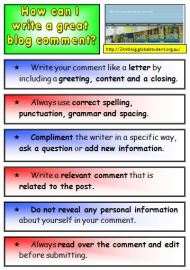 Teaching Blogging and Writing Great Blog Comments